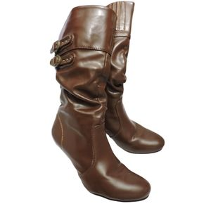 Verona leather looking synthetic shoes 5 1/5